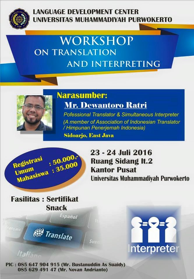 translation and interpreting workshop