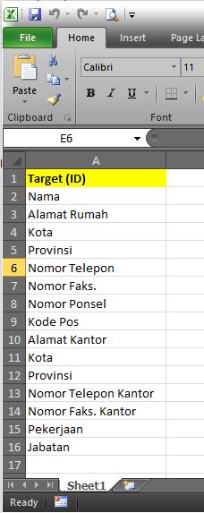target text